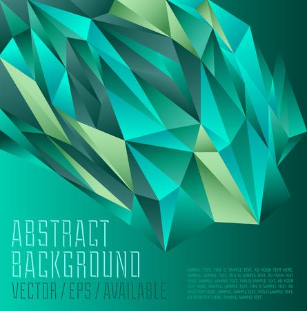 Green tones polygonal design   Abstract geometrical background 向量圖像