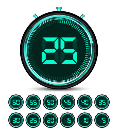 digital: Modern green digital timer