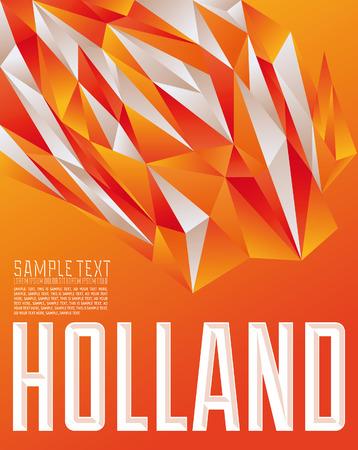 Holland geometrische achtergrond - moderne vlag concept - Holland kleuren Stock Illustratie