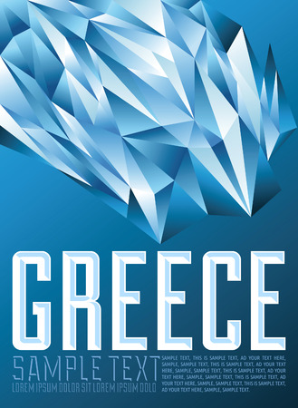 Greece  geometric background - modern flag concept - Greek colors