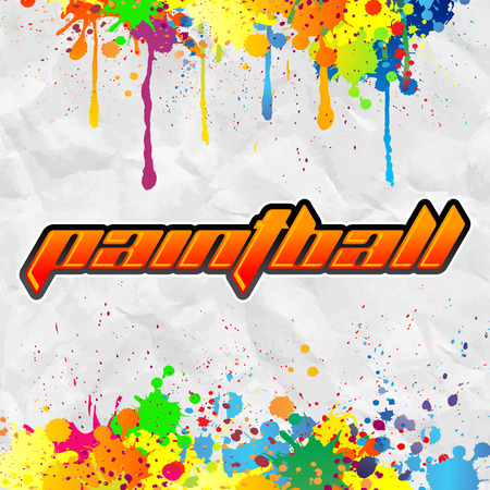 tittle: Paintball lettering - colorful banner Illustration