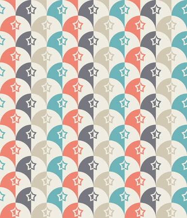 patterns japan: Seamless Retro-stylized Shapes  Tillable, seamless easy-edit Illustration
