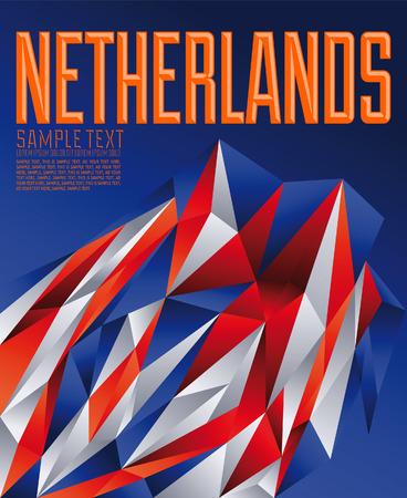 Nederland geometrische achtergrond - moderne vlag concept - Nederland kleuren