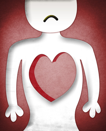resentment: Illustration of Heartless sad character