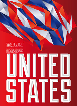 United States - Vector geometric background - modern flag concept - American colors Vector
