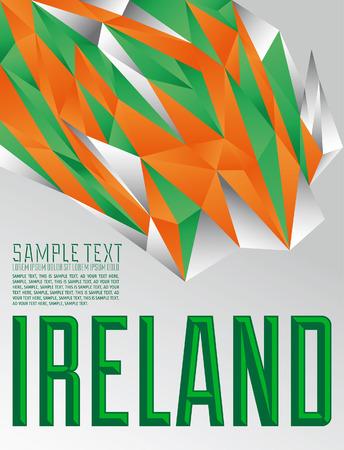 Ireland - Vector geometric background - modern flag concept - irish colors Vector