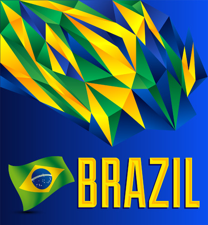 brazilian flag: Brazil  Geometric abstract background