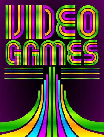 Estilo años ochenta videojuegos - Video Juegos Foto de archivo - 29038009