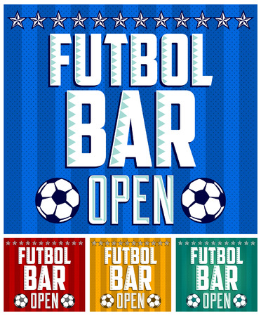 Football - Sports Bar Menu card design template  Vector