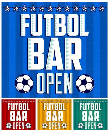 club soccer: Football - Sports Bar Menu card design template  Illustration