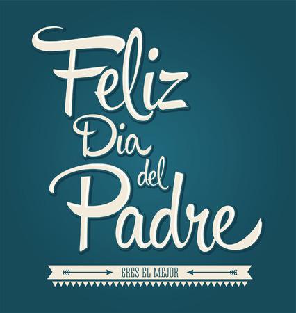 Felice padri giorno in spagnolo Archivio Fotografico - 29264404