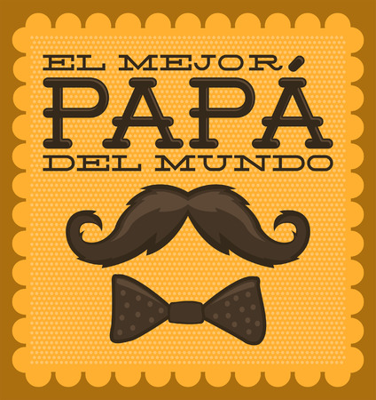 moustache: El mejor papa del mundo - World s best dad spanish text
