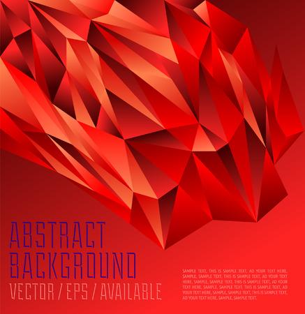 intense: Intense disegno poligonale Rosso Astratto sfondo geometrico Vettoriali