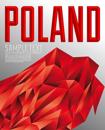 polish flag: Poland - Vector geometric background - modern flag concept - Poland colors