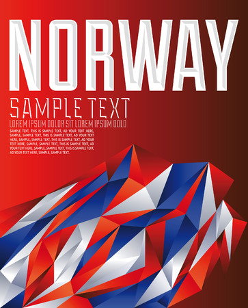 norway flag: Norway - Vector geometric background - modern flag concept - Norway colors Illustration