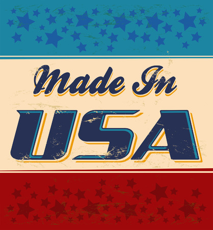 Made in USA retro sign - vector Illustration