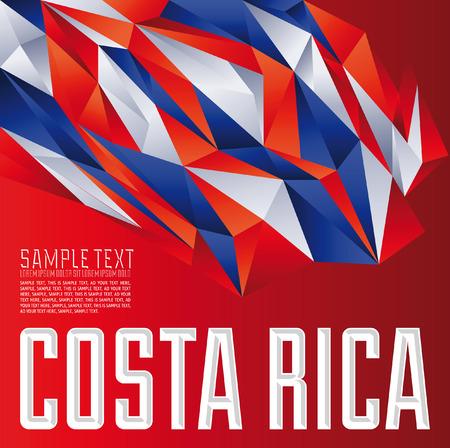 bandera de costa rica: Costa Rica - Vector fondo geométrico - moderno concepto de la bandera - colores Costa Rica