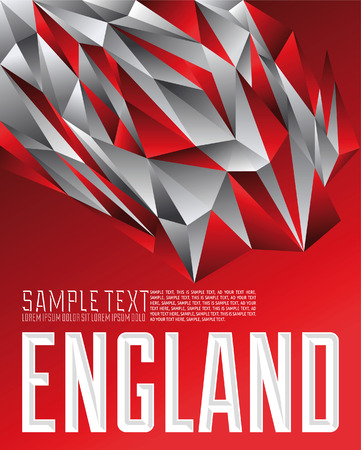 liverpool: England geometric background - modern flag concept - England colors Illustration
