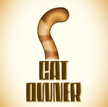 owner: Cat Owner, Cat tail Icon - emblem, lettering