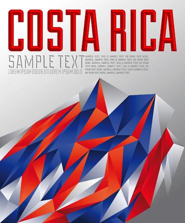 costa rica flag: Costa Rica geometric background