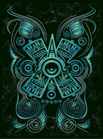 Dark Stylized Mayan symbol