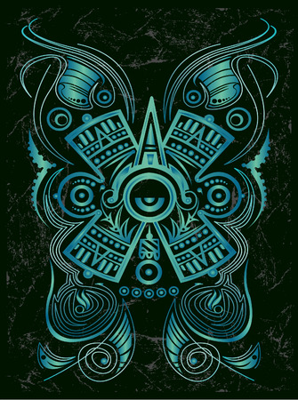Dark Stylized Mayan symbol  Vector