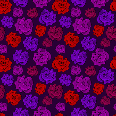 gothic style: Seamless colorful floral pattern - Gothic style