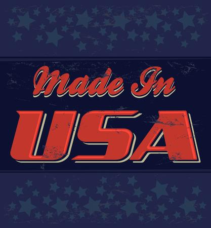 tin: Made in USA retro sign -