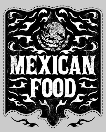 Mexican Food - Vintage restaurant menu design - western style Vector