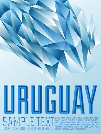 uruguay: Uruguay - Vector geometric background - modern flag concept - Uruguay colors