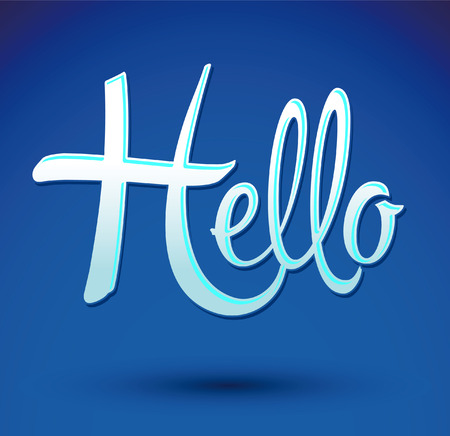 Hello icon emblem Vector