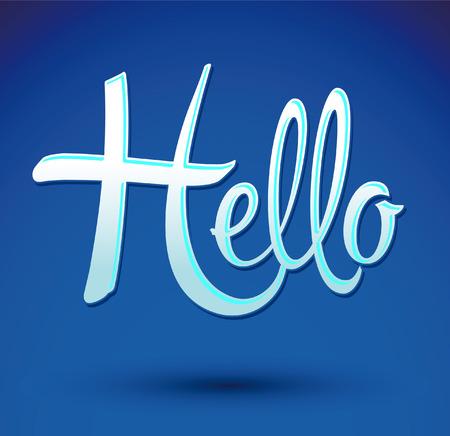 Hello icon emblem 向量圖像