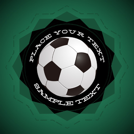 football  soccer  vector icon - badge - ready for your text