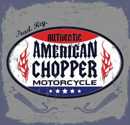 t shirt print: Insignia de American Chopper Motocicleta - icon - emblema, t - dise�o de impresi�n de la camisa