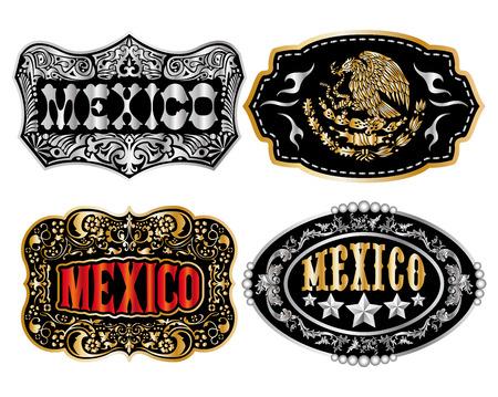 Mexico Cowboy belt buckle icon