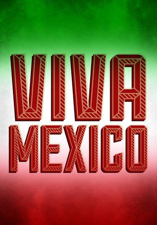 president of mexico: Vintage grunge viva mexico poster - illustration