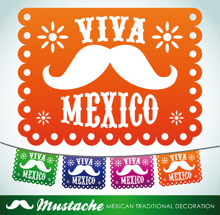 Viva Mexico - Mexicaanse snor vakantie Stock Illustratie