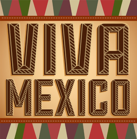 holiday: Viva Mexico - vintage mexican holiday vector decoration