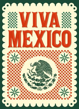 Vintage Viva Mexico - mexican holiday Vectores
