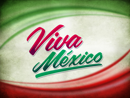 Vintage grunge viva mexico poster photo