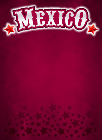 Vintage grunge Mexico poster - Background, ready for your text