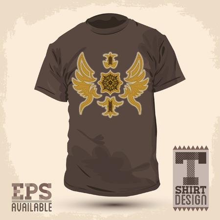 t shirt design: Graphic T- shirt design Abstract Luxurious tribal design