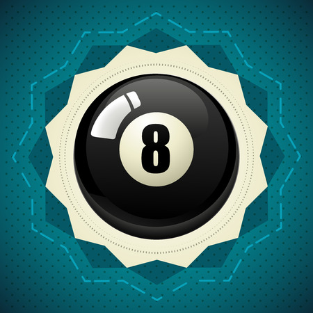 eightball: Pool Black Ball number eight icon Stock Photo