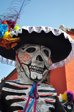 Festive skeleton Mariachi perfect for Dia-de-los-Muertos - mexican day of the death photo