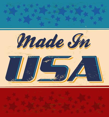 tin: Made in USA retro sign