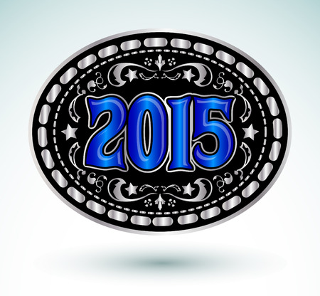 belt buckle: 2015 new year Cowboy belt buckle - medal design