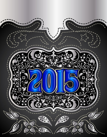 belt buckle: 2015 New Year holidays design - western style - cowboy belt buckle