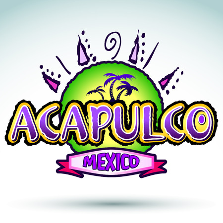 Acapulco Mexico - vector icon, emblem design Vector