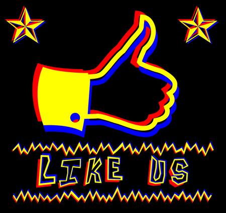 punk rock: Thumbs Up punk rock illustration