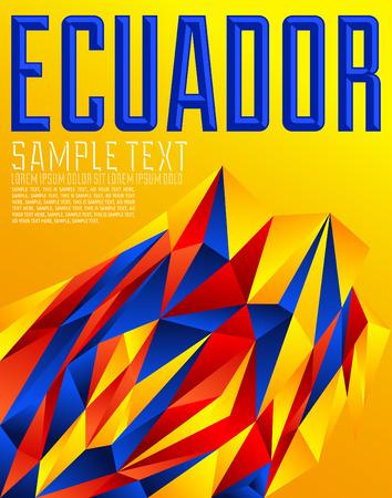 Ecuador - Vector geometric background - modern concept colored flag - ecuadorian colors Ilustração